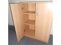 Beech Effect Cupboard with Shelves