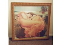 """""""Flaming June"""" classical style painting by Frederic Leighton"""