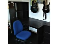 Large IKEA Study Desk with writing pad and storage shelves £35 ono