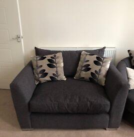 *BRAND NEW* Large Snuggle Sofa - Charcoal