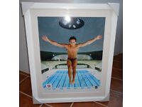 "TOM DALEY SIGNED TEAM GB PHOTO OFFICIAL LONDON 2012 FRAMED 26"" X 21"""