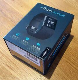 FITBIT SURGE - Black, GPS, Large Strap - Excellent Condition