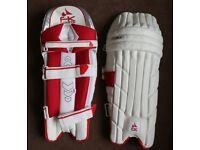 FK Men Cricket Batting Pads Left hand White / Red - New for 2018