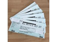 6 tickets to see Will Smith and DJ fresh in concert