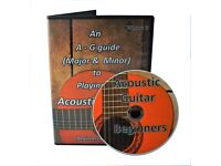 Learn to Play Acoustic Guitar DVD Beginners tutorial lesson +FREE Gift