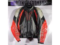 Dainese Kirishima R Motorcycle Leather Sports Race Jacket - EU 52 / UK 42 - Red - BB Bike Leathers