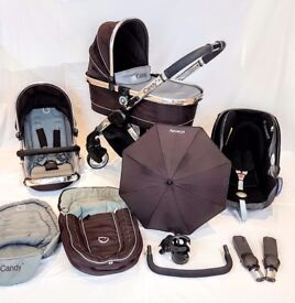 Icandy Peach Travel System** Complete Set Up From Birth!! Inc Extra's Worth £££ Maxi Cosi Car Seat**