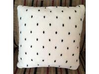 "Beautiful LARGE cushion polka dots spotty dalmation 20"" thick hollow fibre pad"