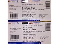 Status Quo Tickets x 2