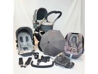 Icandy Peach 3 Truffle - Complete Set Up From Birth Inc Maxi Cosi Car Seat, Parasol & Cupholder