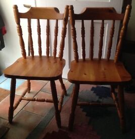Pine chairs by 2