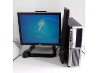 HP (PC, Monitor, K/M, 3GB Ram, Core E5200, Win 7, Office 2010, All In One) Computer, i3, Desktop PC
