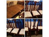 LARGE TABLE AND 6 CHAIRS