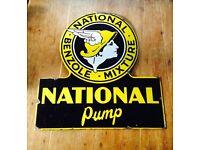 Wanted old advertising metal sign antique vintage shop enamel