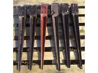 "6x Metal Fence support spikes for 3x3"" posts"