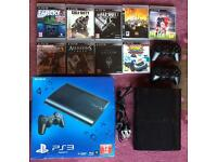 PS3 console & 9 games *** Boxed