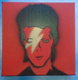 David Bowie (Pop Art) Original Painted Canvas