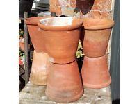 6 vintage terracotta plant pots 1