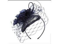 Issa London Annabelle Navy Fascinator