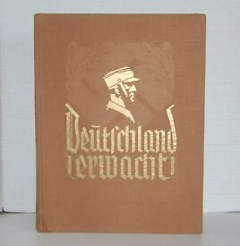 Deutschland Erwacht 1933 Original Propaganda Photo Book in German - Dust Jacket