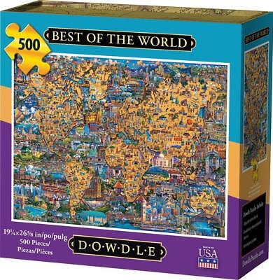 DOWDLE FOLK ART COLLECTORS JIGSAW PUZZLE BEST OF THE WORLD 500 PCS (Best Worlds Of Arts)