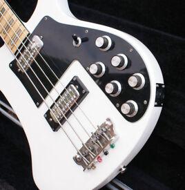 Vintage 1970's John Birch 4001 Style Bass In Rare Arctic White
