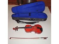 Hans Hauer 1/4 size violin + bow + case