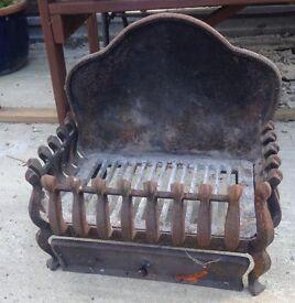 Fire hearth grate cast iron