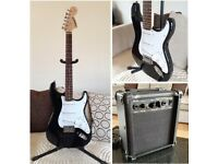 Fender Starcaster, Totally As New, Includes Practise Amp, Guitar Lead And Strap.