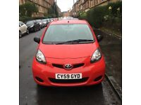 Toyota aygo 2010. 63,000 miles. 12 month mot. Good condition.