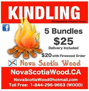 Dry Kindling    DELIVERED    www.NovaScotiaWood.ca