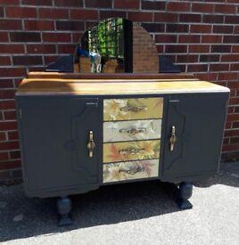 Antique, vintage art deco sideboard/cupboard