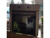 Used silver and black electric fan oven for sale