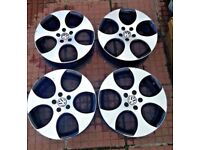 Vw genuine monza alloy wheels diamond cut with tyres