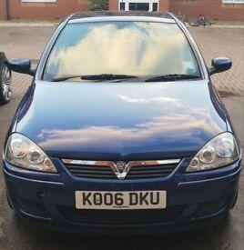 Vauxhall Corsa Design 1.2 Twinport Blue 48000 miles 2006 reg