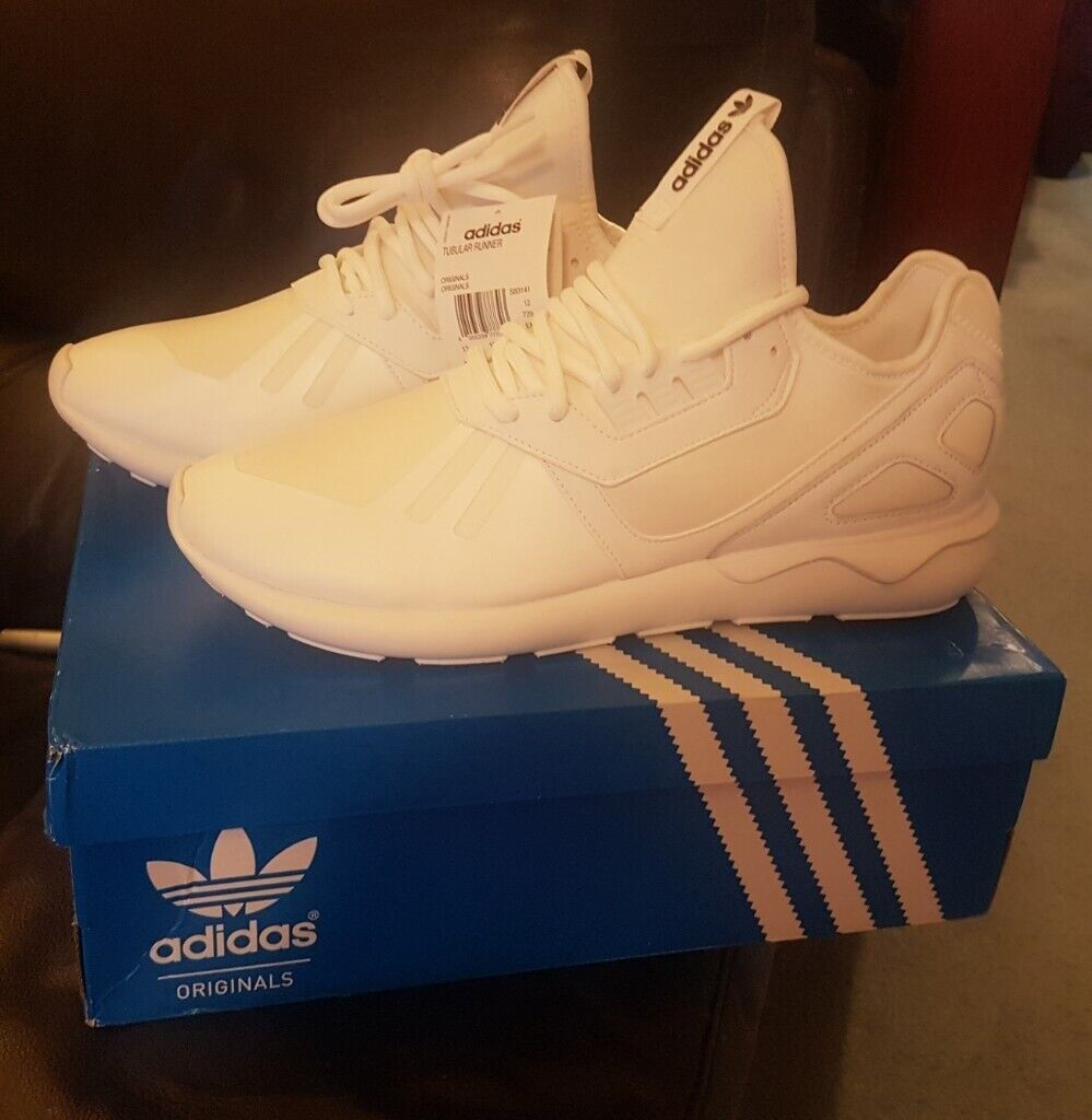 new concept 447b7 43f3e New Mens Adidas Originals Tubular Runners Size 12 in Triple White | in  Bangor, County Down | Gumtree