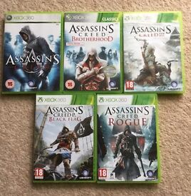 Assassin's Creed Games x 5 - Xbox 360