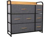 Chest of Drawers, Cationic Fabric 7-Drawer Storage Organizer