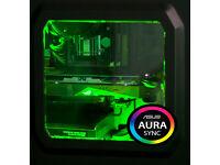 AURA SYNC Gaming Computer PC Intel Xeon 3.20 GHZ Quad Core 8 Threads!GTX 1050ti Strix 12GB Ram