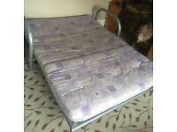 Metal Tubular Frame Double Bed Settee