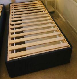 IKEA Balestrand Single Divan base in Grey, Drawer on Right Side, part dismantled