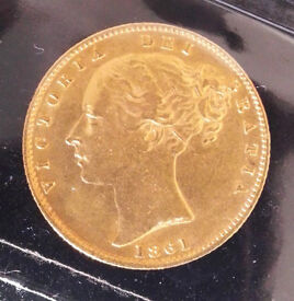1861 gold full sovereign