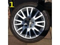 GENUINE AUDI A4 ALLOY WHEELS-235/45/17 TYRES- FIT VW SEAT SKODA A3 A4 A5