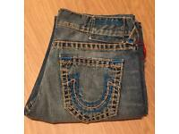 Brand new with tags. Men's vintage True Religion Geno slim fit jeans. Waist 32. Authentic. RRP £250