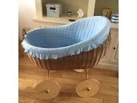 Baby bed / cot / Moses basket / basinette on wheels