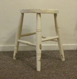 Milking stool small vintage shabby chic display kids stool art and deco