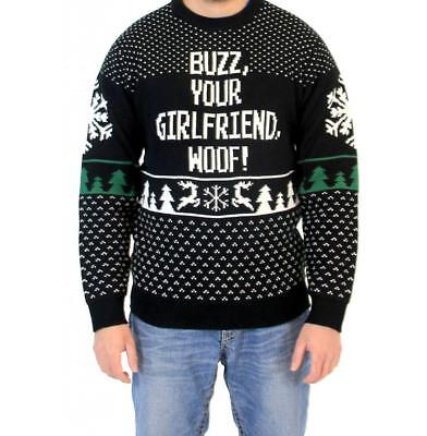 Adult Movie Home Alone Buzz Your Girlfriend Woof Ugly Christmas Sweater - Buzz Home Alone