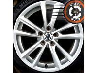 "17"" Genuine alloys VW Golf Caddy Seat Leon excel cond premium tyres."