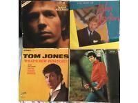 4 LPs. Tom Jones x2.. John Leyton, Scott Walker 33rpm.