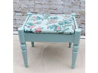 Gorgeous dressing table stool with storage. Shabby chic